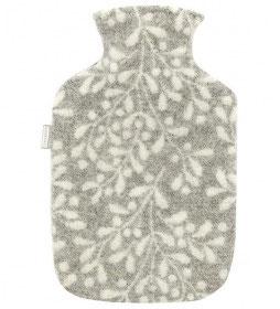 Wärmflasche Mistelli weiß-grau 2 L