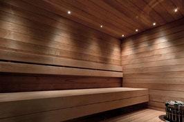 Sauna LED Beleuchtung von LEDIFY, 9 LED Lampen, silber