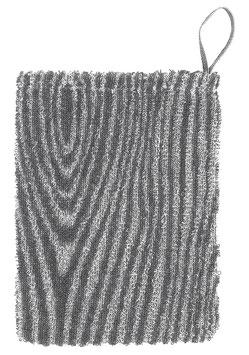 Waschhandschuh VIILU grau 15x23