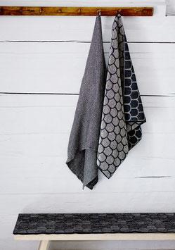 """Handtuch/ Saunatuch """"Paanu"""" schwarz-weiß 80x150 cm"""