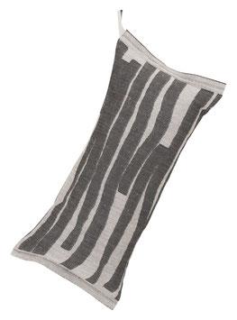 Saunakissen TWISTI grau-natur 20x46 cm