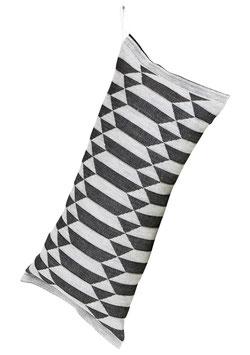 Saunakissen HILA  black-white 20x46 cm