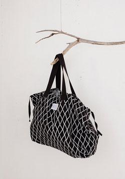 Tasche ESKIMO schwarz-weiß 40x60 cm