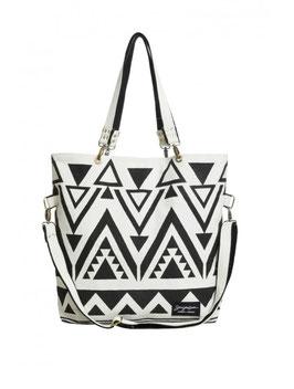 Strandtasche MARACAIBO schwarz-weiß 61x54 cm