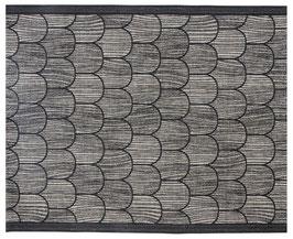 Sauna-Auflage PAANU 48x150 cm schwarz-leinen