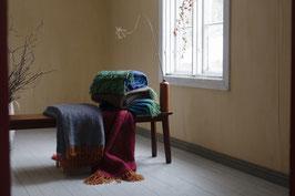 Mohairdecke REVONTULI  5 verschiedene Farben 130x170cm + Fransen