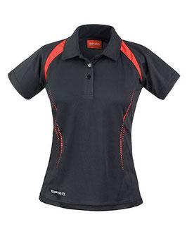 RS Damen Poloshirt (Schwarz/Rot)