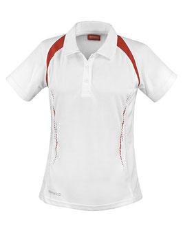 RS Damen Poloshirt (Weiß/Rot)
