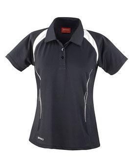 RS Damen Poloshirt (Schwarz/Weiß)