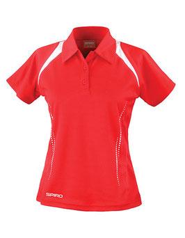 RS Damen Poloshirt (Rot/Weiß)