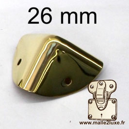 26 mm - Coin de malle laiton massif - Luxe