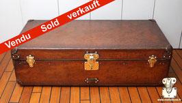 Malle Cabine cuir Louis Vuitton 1906 Scribe