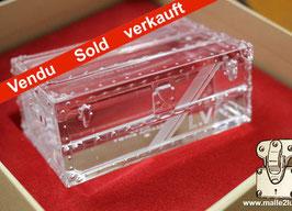 Presse papier mini malle en cristal Louis Vuitton