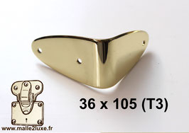 Equerre malle de luxe laiton massif 36 mm x 105 mm (T3)- Luxe