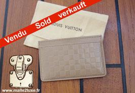 Porte-cartes Louis Vuitton cuir damier infiniti