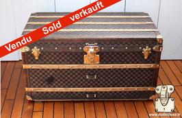 Malle courrier Louis Vuitton cuir et laiton - Scribe