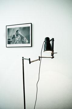 """French lamp """"debout et roulez"""""""