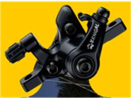 BRO 408 1 Stk. Mechanische Bremszange für Bremsscheibe vorne 203mm Durchmesser