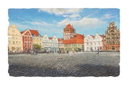 Greifswalder Markt  mit Marienkirche