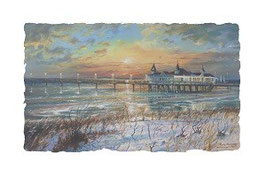 Seebrücke Ahlbeck im Winter