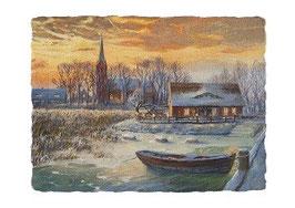 Kirche Krummin im Winter