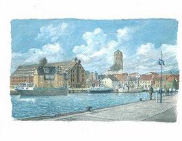 Wolgaster Hafen mit Speicher