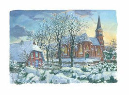 Kirche Wustrow im Winter