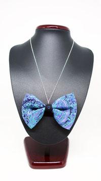 Collier papillon bleu fondu à usage 4 en 1 - fait à LYON