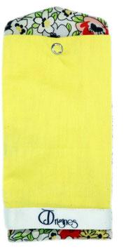Étoffe fleur sauvage jaune