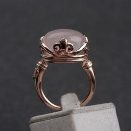 Vintage Unikat: Ring Rosenquarz