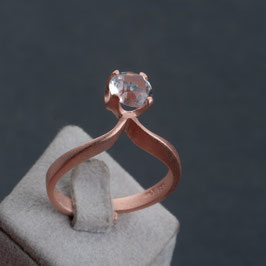 Vintage Unikat: Ring Bergkristall