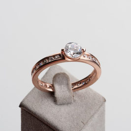 Vintage Unikat: Eternity Ring mit Solitaire
