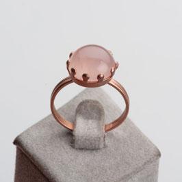 Vintage Unikat: Ring mit Rosenquarz