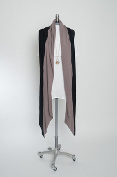 drei Meter Schal: black.toffee