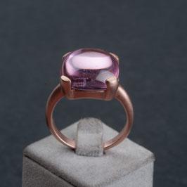 "Vintage Unikat: Ring ""Pink Bubble"""