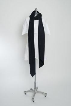drei Meter Schal: black.black