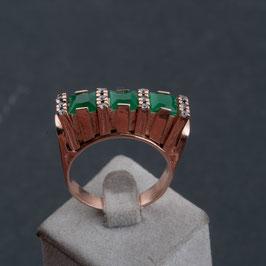 "Vintage Unikat: Ring ""Grün"""