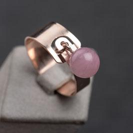 "Vintage Unikat: Ring ""Rosenquarzkugel"""