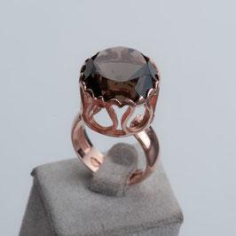 Vintage Unikat: Ring mit Rauchquarz