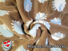 """Kuschel-Platz-Decke """"Modell Schäfchen hellblau"""""""