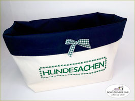 "Stoffkörbchen ""Hundesachen"" Grün"