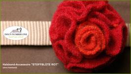 "Halsband-Accessoire ""Stoffblüte"" rot"
