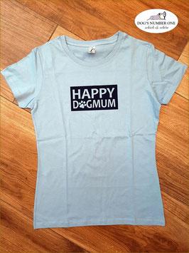 "T-Shirt KA Hellblau ""HAPPY DOGMUM"""