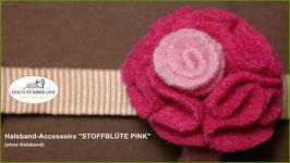 """Halsband-Accessoire """"Stoffblüte"""" pink"""