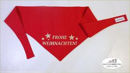 """Wende-Hundehalstuch zum Knoten """"Modell Frohe Weihnachten rot"""""""