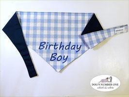 """Wende-Hundehalstuch zum Knoten """"Modell Birthday Boy """""""