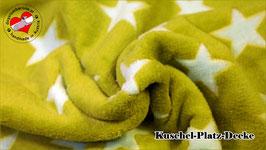 """Kuschel-Platz-Decke """"Modell Star grün"""""""