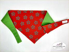 "Wende-Hundehalstuch zum Knoten ""Modell Christmas-Stars"""