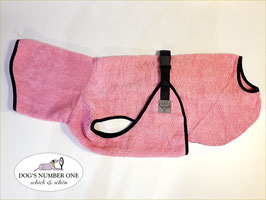 Hunde-Bademantel rosa/pink