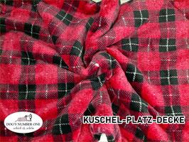 """Kuschel-Platz-Decke """"Modell Karo pink"""""""